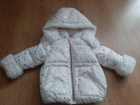 Przepiekna nowa zimowa kurtka/kurteczka futerko/biała/ocieplana 68 C&A