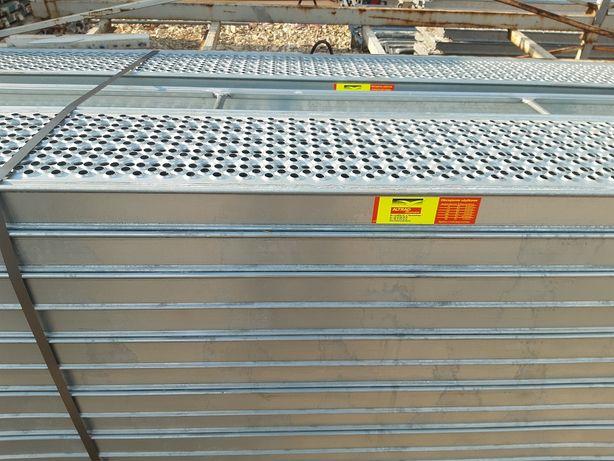 Rusztowanie Plettac Platek 15 ram 20 podestów stalowych NOWE 7800zł