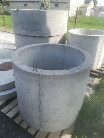Nowe kręgi betonowe fi 80/96 /80, fi 80/96/50