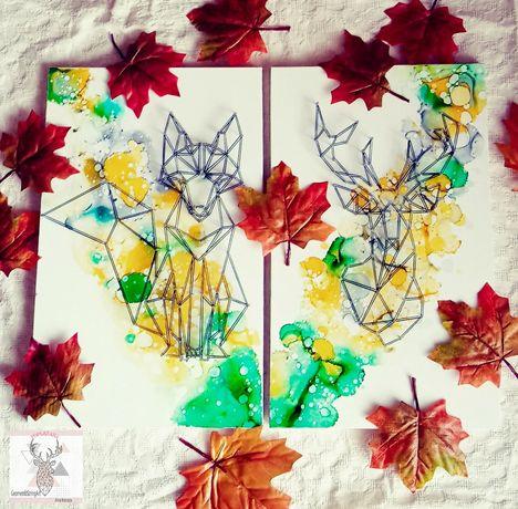 Zestaw lesny String Art pokoj dziecka