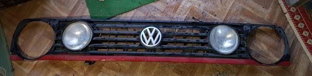 Grelha VW Golf 2 com 2 faróis + 1