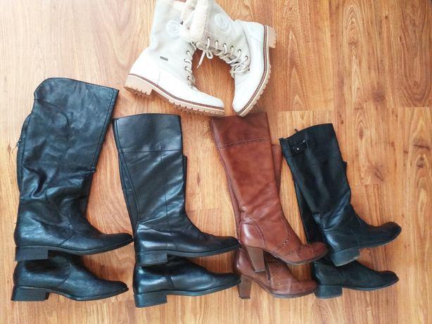 Okazja!!Zestaw kozaków skora -40 + gratis buty Tamaris