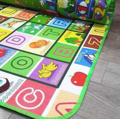 Детский игровой коврик, бебипол, коврик двусторонний мягкий, 180x120
