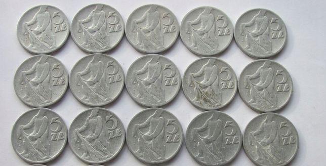 13 Monet 5 złotych 1959r Rybak 40 złotych za sztukę /520zlotych calosc