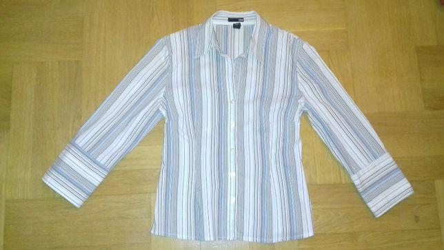 H&M 36 38 elegancka bluzka do pracy biznesowa koszula paski