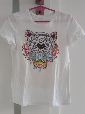 Bluzka damska koszulka t-shirt biała S 36