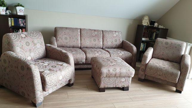 Kanapa +2 fotele + pufa