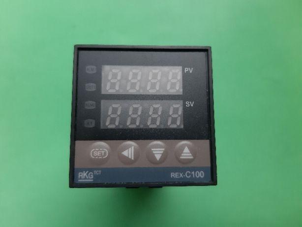 Терморегулятор REX-C100 + термопара к-типа 1 метр SSR ( пит. AC 220В)