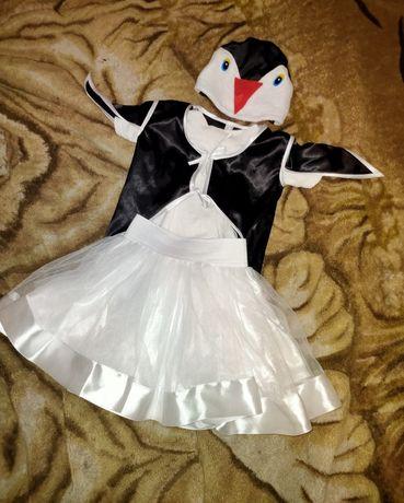 Новогодний карнавальный костюм пингвина для девочки,костюм на утренник