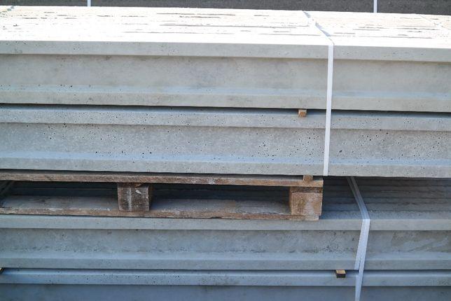 podmurówka ogrodzeniowa betonowa h20cm d2,48m murek łącznik betonowy