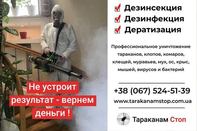 Уничтожение тараканов, клопов, блох, комаров. Дезинфекция