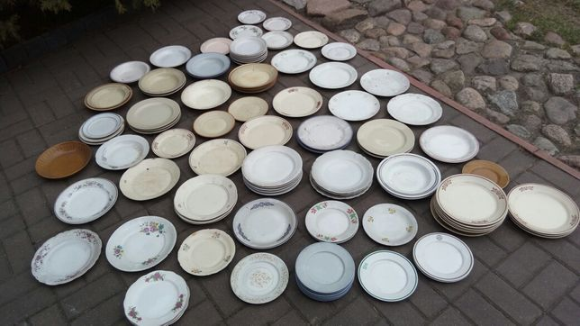 Stara polska porcelana talerze