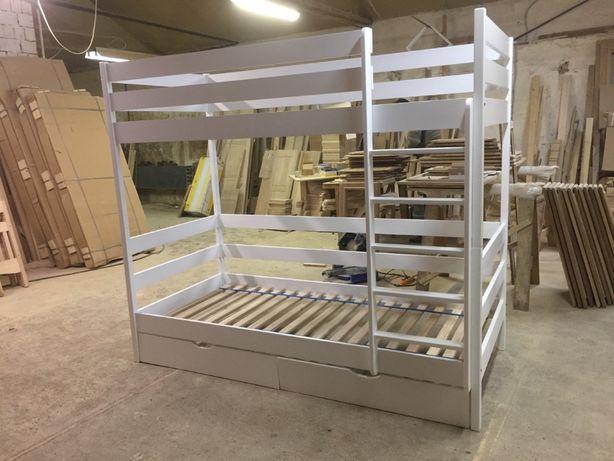 Двухъярусная кровать Каспер из массива бука. Любой размер. АКЦИЯ!!