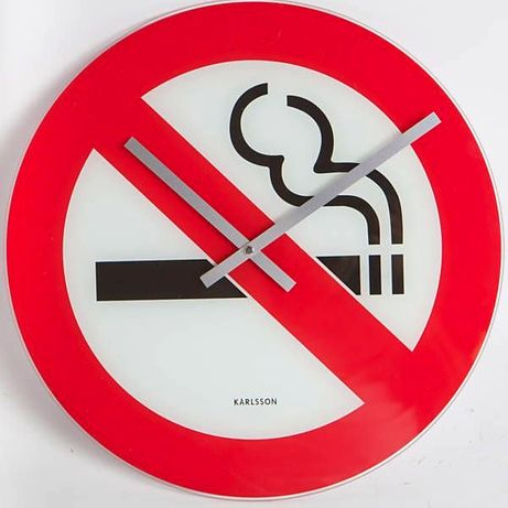 """Relógio Icónico """"No Smoking"""" by Karlsson"""