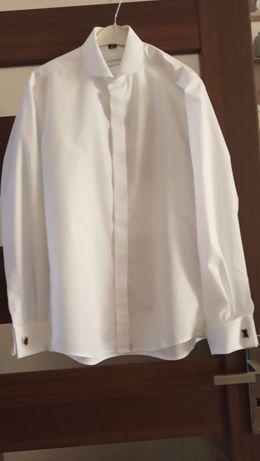 Biała koszula ze spinkami 40 170/176