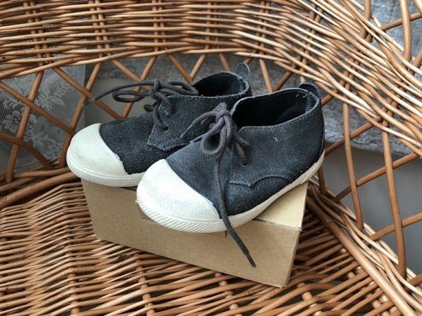 Buty skórzane ZARA granatowe, rozmiar 21