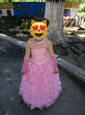Платье (+перчатки+подюбник) праздничное.
