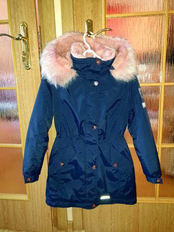 Зимняя парка-пальто для девочки, 146 размер