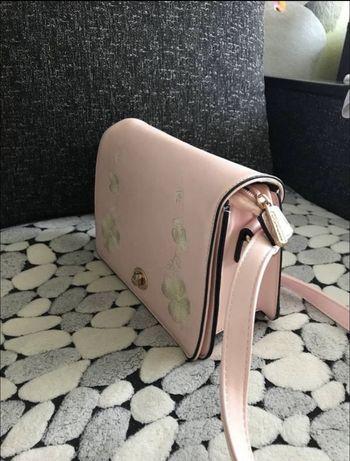 Ррзовая сумка клатч через плечо