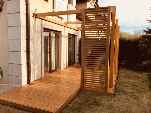 Tarasy, pergole, elewacje drewniane - budowa i projektowanie