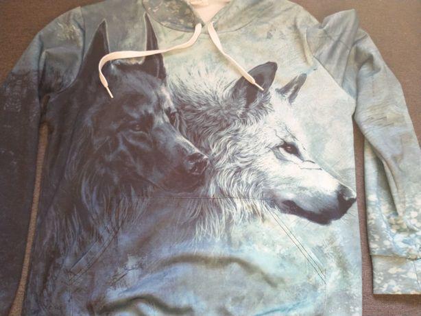 Bluza męska wilki