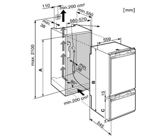 Ремонт встраиваемых холодильников LIEBHERR MIELE. Многолетний опыт.