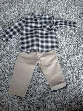Komplet na święta Koszula spodnie roz 80 POLECAM