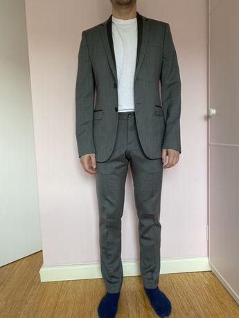 Garnitur Zara jak nowy M 48 40 szary