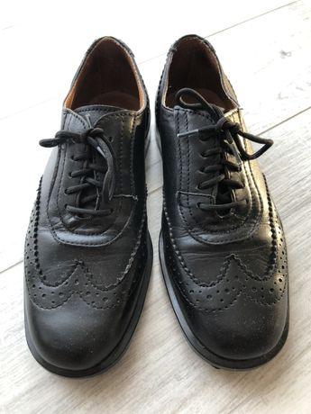 Eleganckie buty czarne, rozm 32, skórzane
