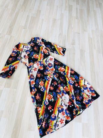 Sukienka kwiaty ZARA S jak nowa
