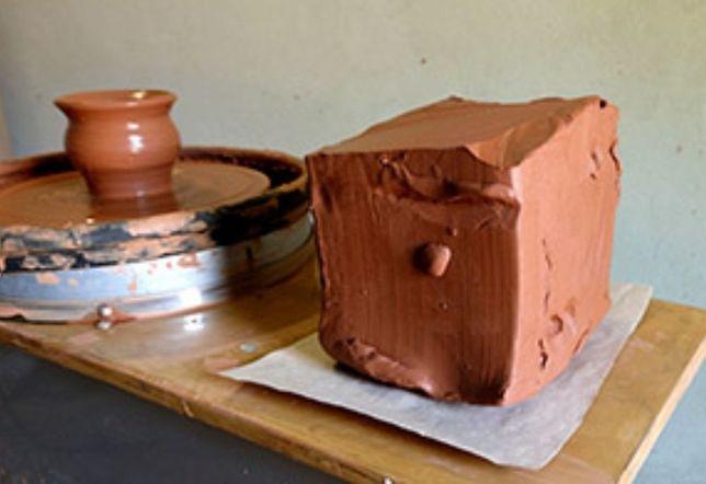 Терракотовая глина 9 кг, природная глина, красная гончарная глина