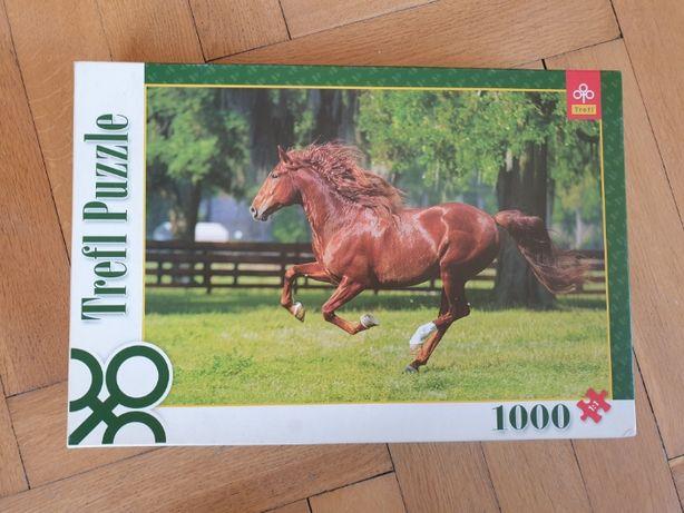 Puzzle koń 1000 elementów trefl