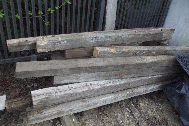 Stare drewniane belki 11x11cm, z 90-letniej więźby, 1,7-2,3m, 15szt.