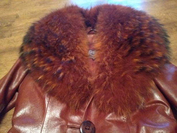 Женский кожаный плащ, пальто, натуральная кожа