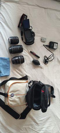 Canon 600d +3 обьектива + 2 сумки и ТД.