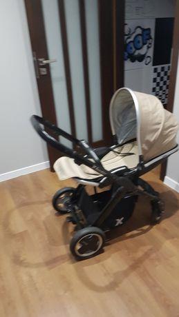 Wózek dziecięcy x-lander beżowo-srebrny
