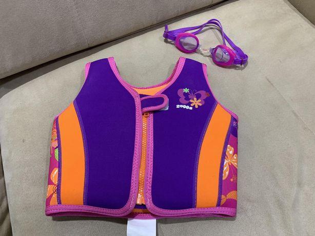Детский жилет для плавания Zoggs на 2-3года на 15-18кг +очки в подарок