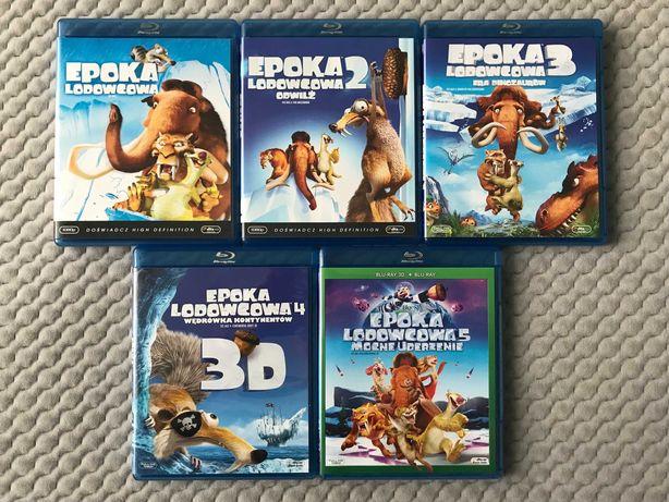 """""""Epoka lodowcowa 1-5"""" - 5 bajek Blu-ray (polski dubbing)"""