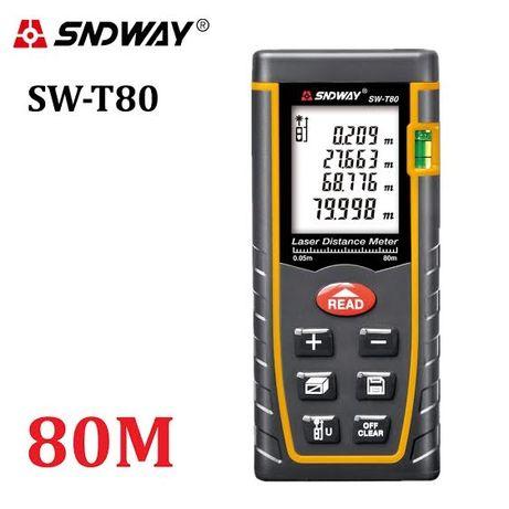 SNDWAY SW-T80 (80 метров) лазерная рулетка/ Лазерный дальномер