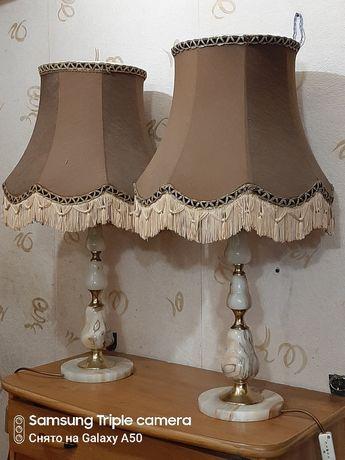Старинный торшер лампа из оникса Германия.