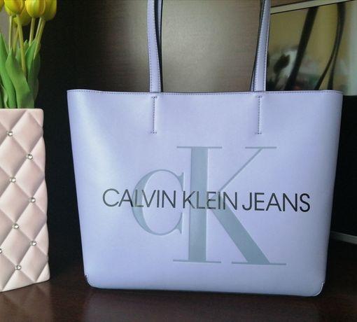 Calvin Klein torebka shopper purple