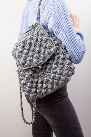Вязанный рюкзак ручная работа