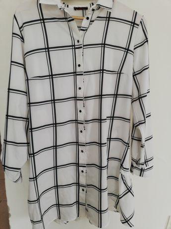 Koszula w kratę róż Xl