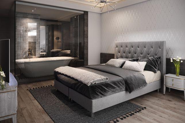 Łóżko hotelowe ROYAL 180X200 + MATERAC tapicerowane PRODUCENT