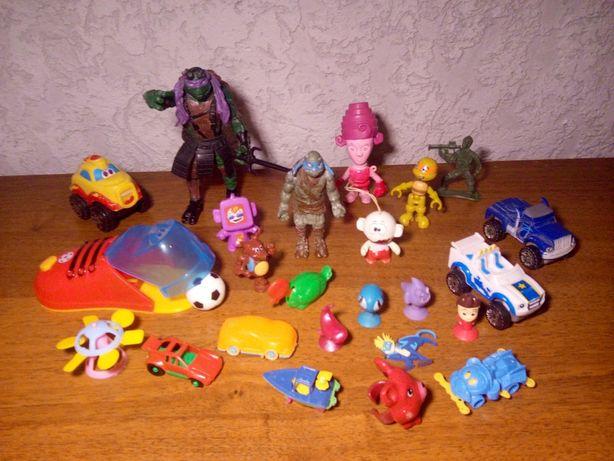 Мелкие игрушки машинки ниньзя липучки