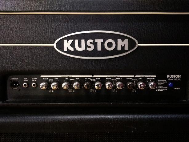 """Zeststaw: Head KUSTOM Quad 100HD 100 W + kolumna 4x12"""" Ashdown"""