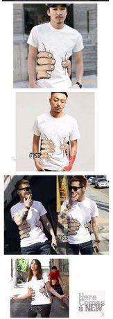 """T-shirt """"com mão a agarrar"""""""