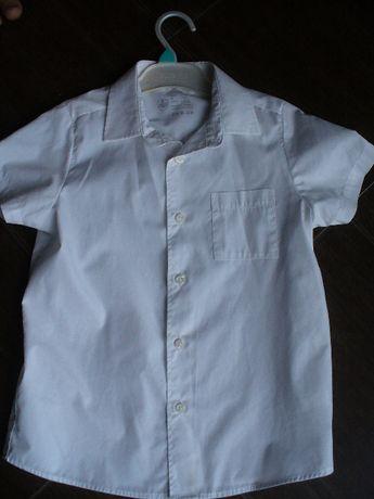 Biała koszula na apel dla chłopca roz.128