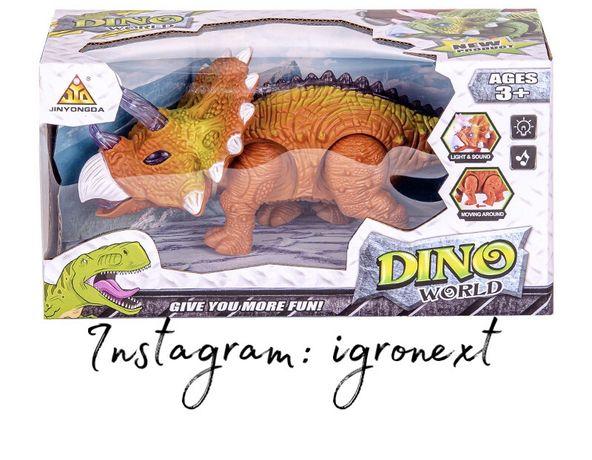 Игрушка динозавр на батарейках свет/звук