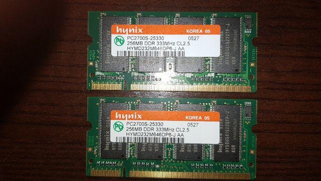 2x Memórias hynix 256mb DDR 333mhz CL2.5 PC2700S-25330
